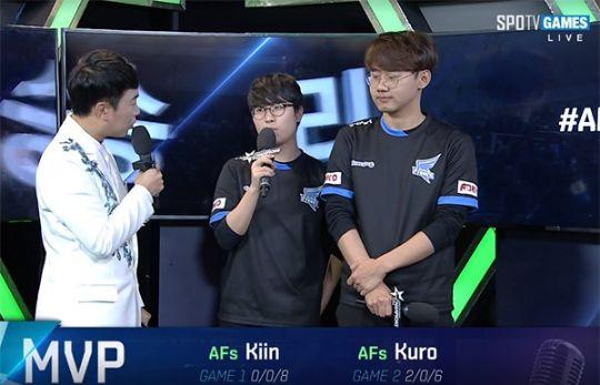 AFs胜KSV后采访上单Kiin:表现得好就会有人关注